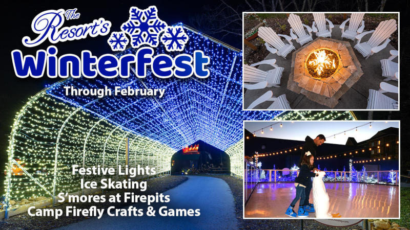 The Resort's Winterfest includes ice skating, smores, and more!